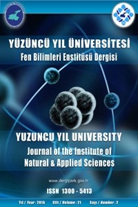 Yuzuncu Yil University Journal of the Institute of Natural and Applied Sciences