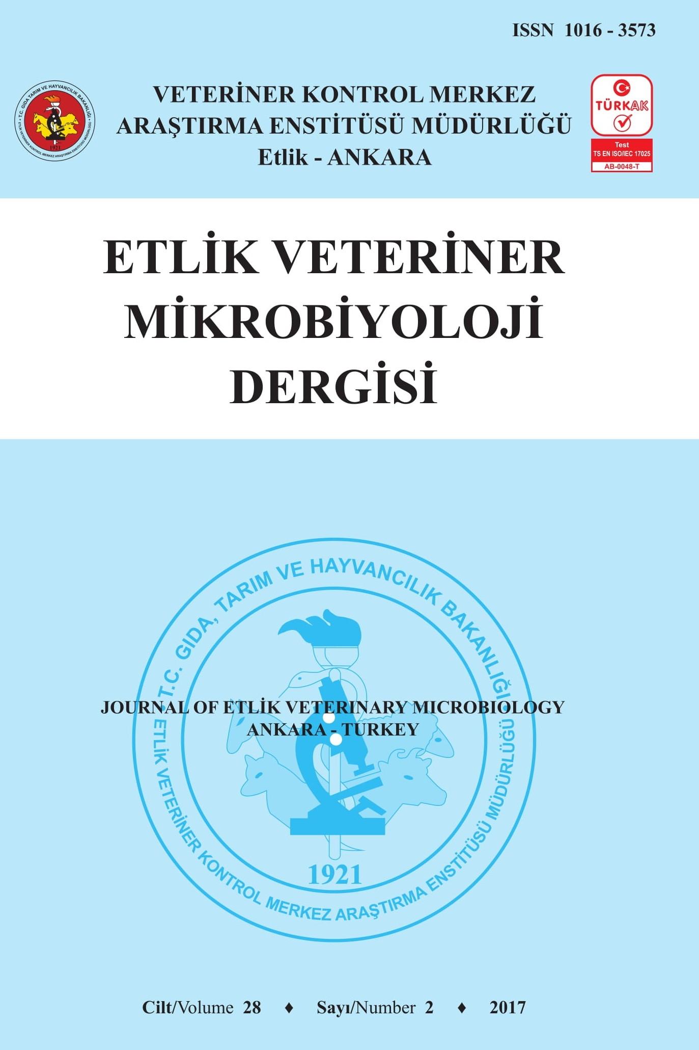 Journal of Etlik Veterinary Microbiology