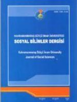 Kahramanmaraş Sütçü İmam Üniversitesi Sosyal Bilimler Dergisi